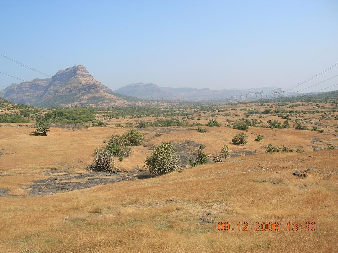View of Deccan plateau towards north east of Naneghat
